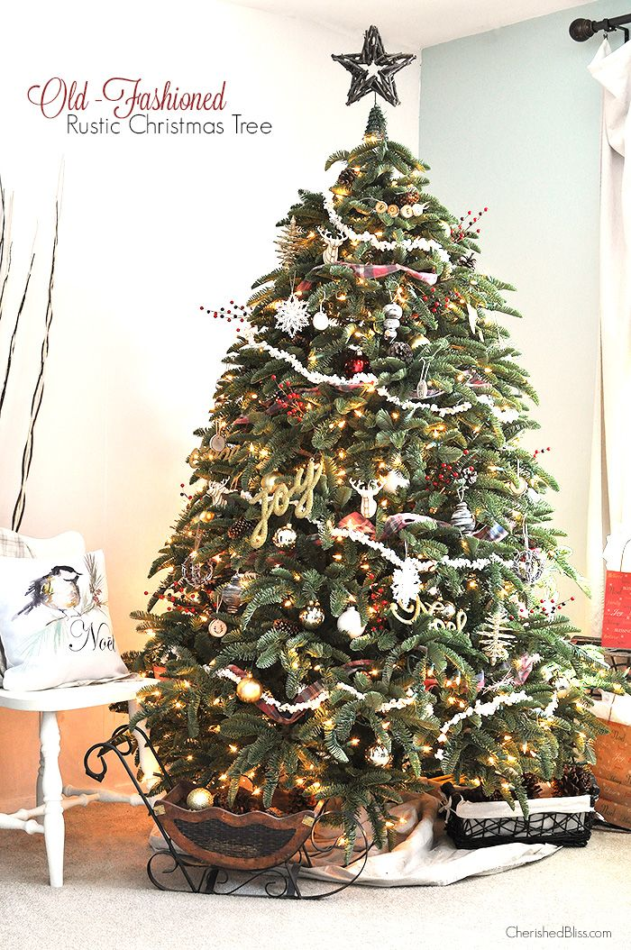 Old Fashioned Christmas Party Ideas Part - 31: Old Fashioned Rustic Christmas Tree
