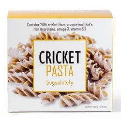 Bugsolutely Cricket Pasta - made from cricket flour in Thailand. A new way to get some protein and ease into the growing edible insect movement.