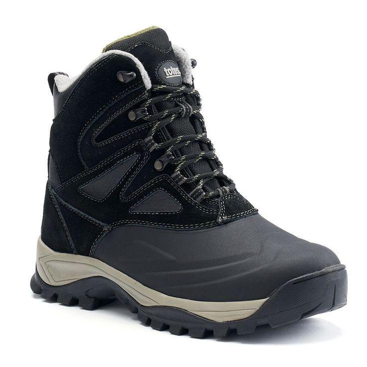 Totes Baldwin Men's Waterproof Winter Boots, Size: medium (8), Black