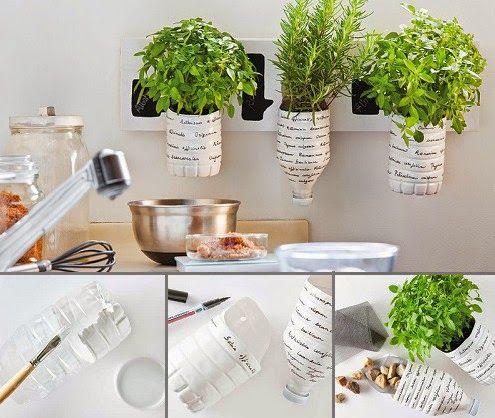 Da un toque súper original y personalizadvo a tu cocina o a cualquier otro espacio, creando macetas recicladas. #Ideas #DIY #Bricolaje
