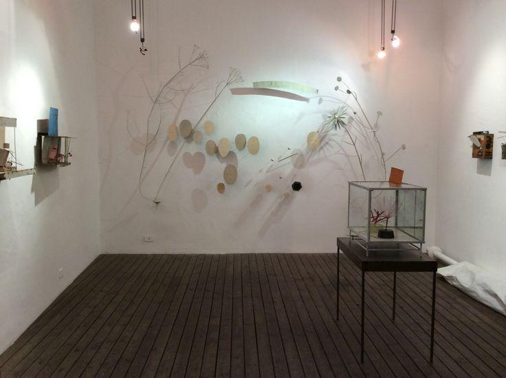 """""""Il banchetto nuziale per Max Stirner"""", 2014 Olio, ferro e vetro Meccanismo a basamento 60 x 42 x 62 cm"""
