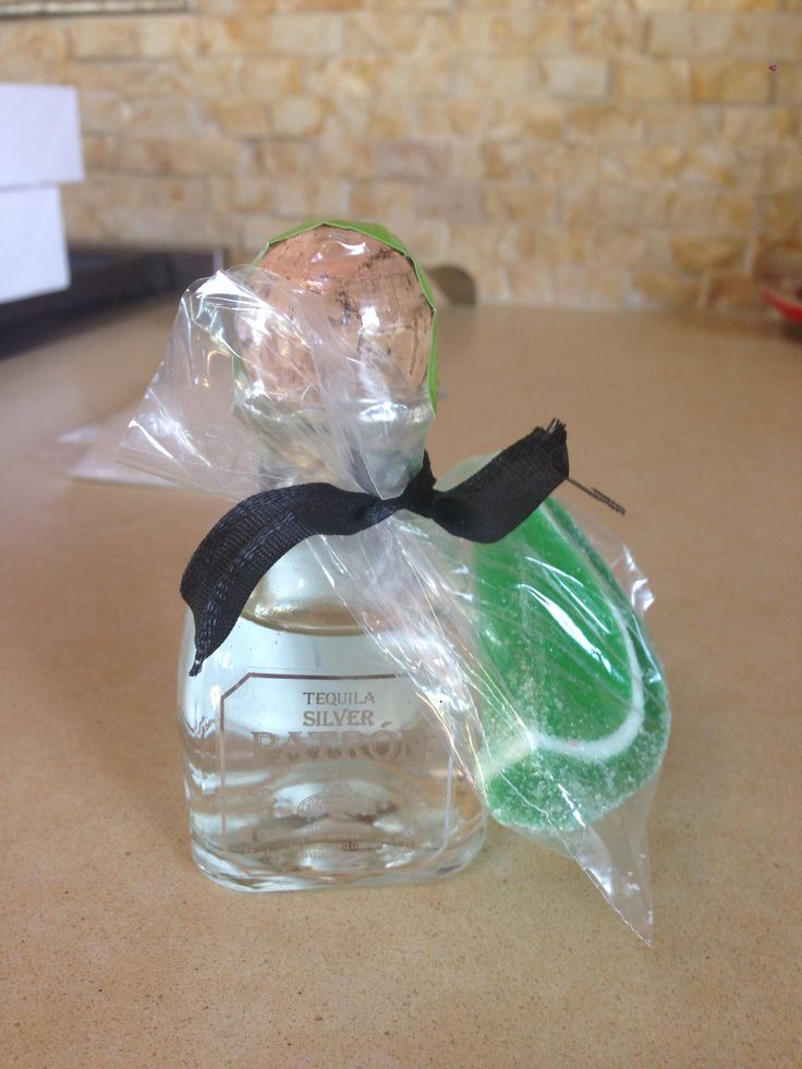 50th birthday party favor. Tequila party favors
