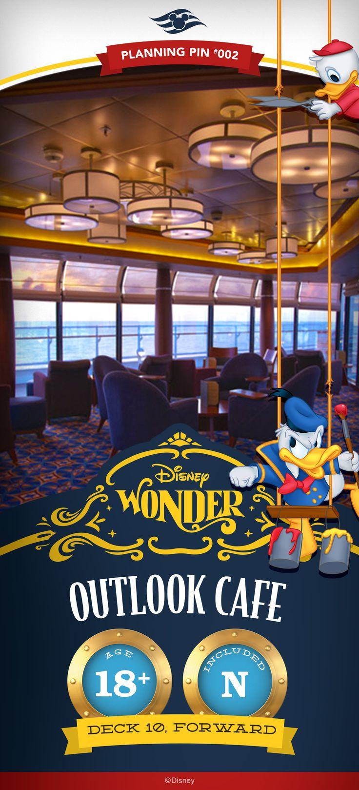 Disney Cruise Line Planning Pins | Disney Wonder: Outlook Cafe