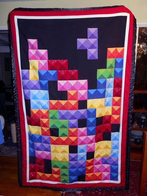 Tetris quilt.  This is so cool!  If only I knew how to actually do crap like this...