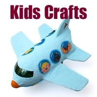 Great crafts for kids and recycling everyday objects.