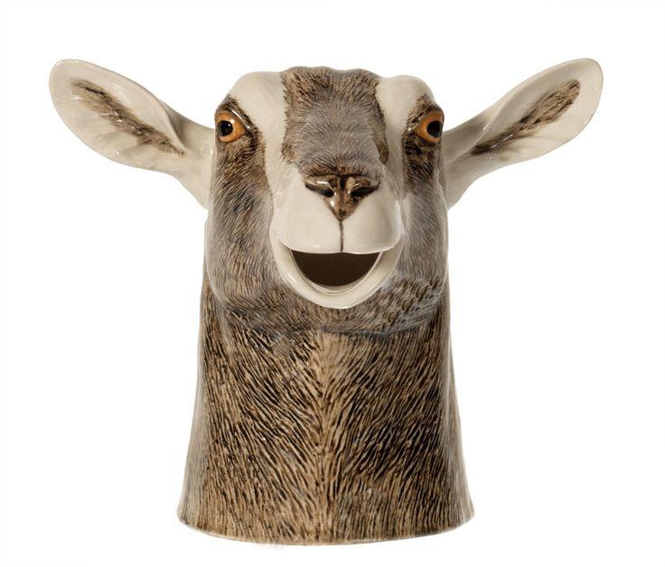 British Toggenburg Goat Jug Medium 4.25'' (10.7cm) - Quail Ceramics