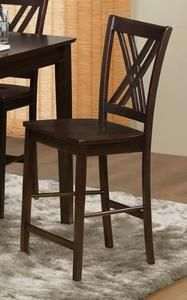 Hodges Collection Counter Height Chair w/ X-Back Design in Dark Cappuccino by Homelegance Furniture (Set of 2)