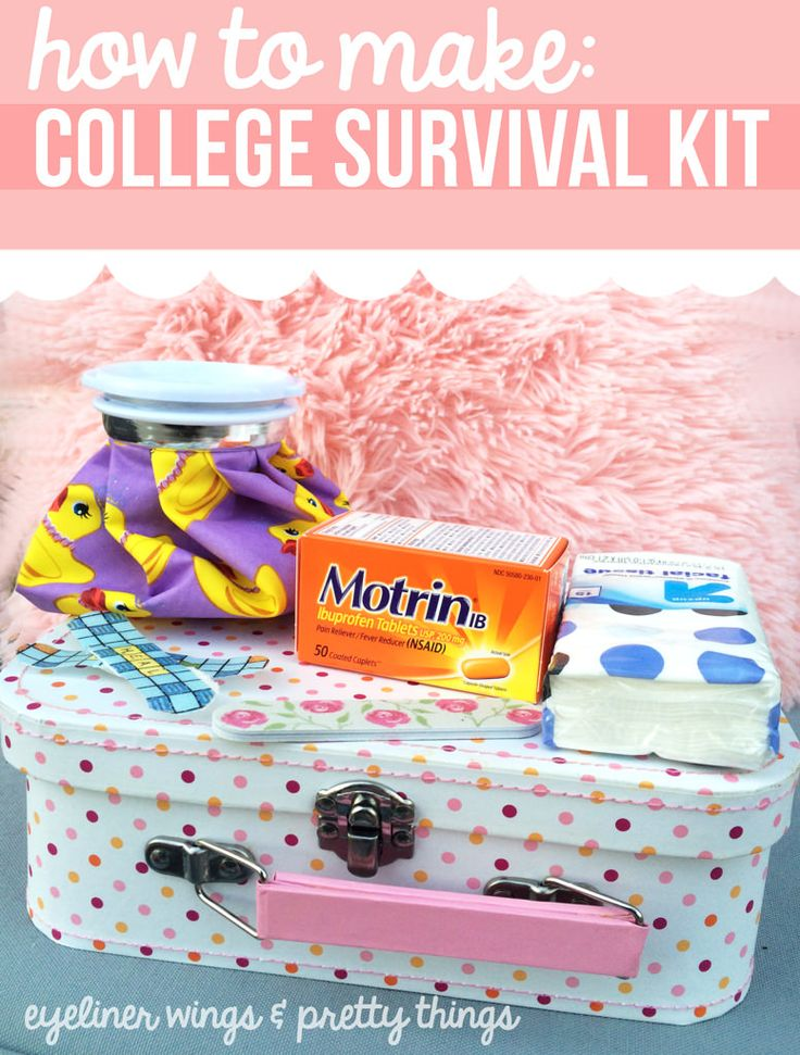 #AD How To Make A College Survival Kit // eyeliner wings & pretty things #WinOverWinter @Target @Motrin