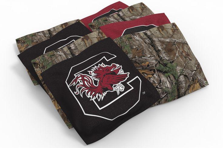 South Carolina Gamecocks Cornhole Bags - Camo