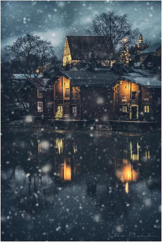 Winter Magic in Porvoo, Finland | Photo by Jukka Pinonummi