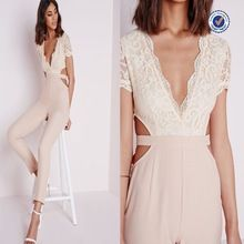Wholesale formal jumpsuits high quality sexy bodycon lace top cut out jumpsuits for women 2015 Best Buy follow this link http://shopingayo.space