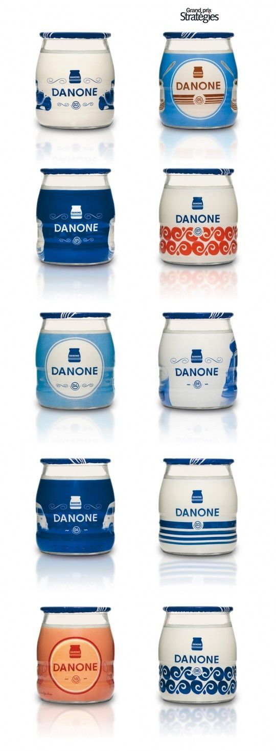 Danone yoghurt jars