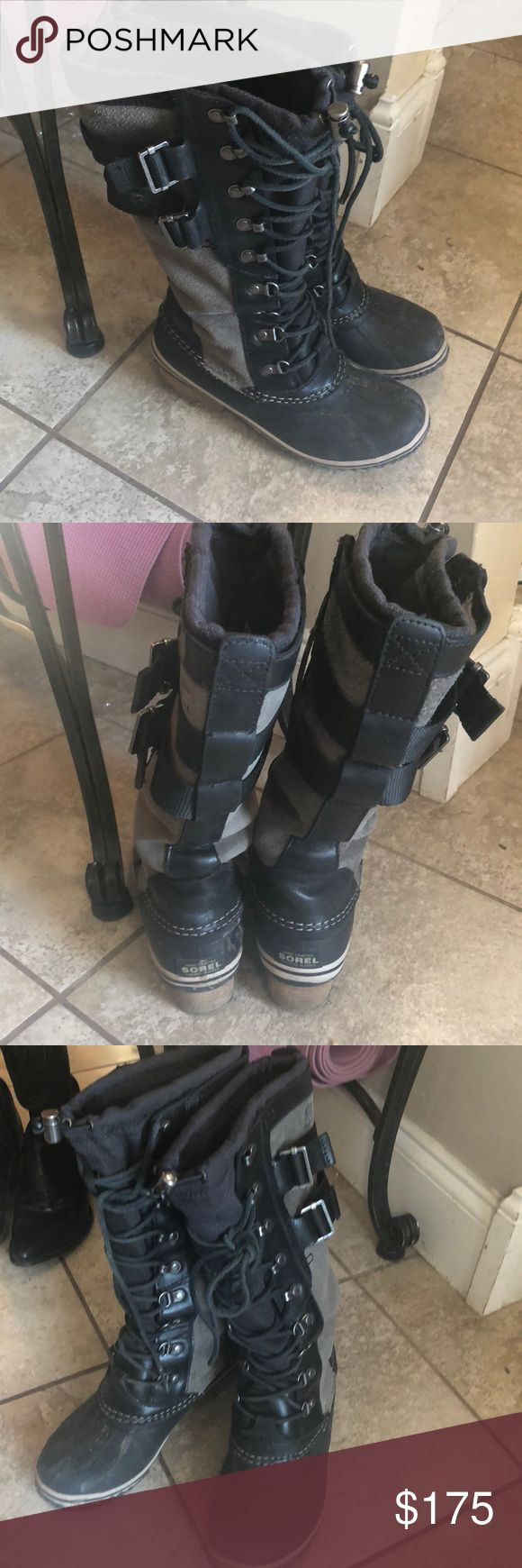 December sale!!Sorel winter boots I️ forgot the exact kind. I️ just bought them two weeks ago but then I️ splurged on a pair of sperrys AND mucks today so I'm looking  to sell these. They are super cute on! I️ will clean them it's just a little mud :) Sorel Shoes Winter & Rain Boots