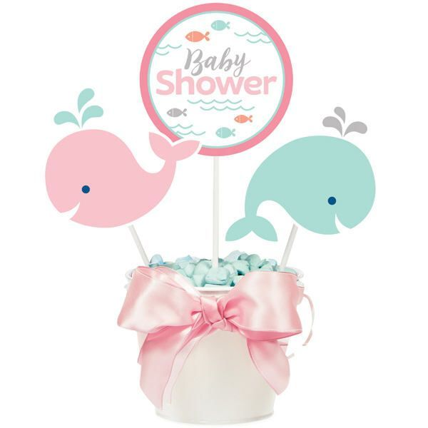 My Liu0027l Whale Baby Shower Centerpiece / Whale Party / Whale Theme Baby  Shower