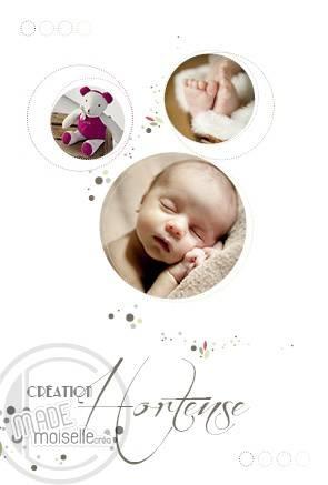 TENDRE RONDEUR  Un souffle d'amour  Pareil à des bulles, tout en légereté, ce faire part est la pour annoncer la naissance de bébé.