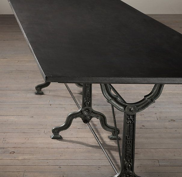 Superb RHu0027s Factory Zinc U0026 Cast Iron Rectangular Dining Table:Modeled After The  Base Of A Victorian Era Sewing Machine.