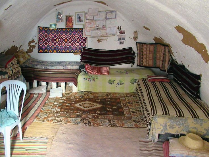 The Berber residents of Matmata, Tunisia, have resorted to living in underground troglodyte dwellings to escape the summer heat.