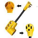 Dogbone RV Power Adapter RV Electrical Power Cord with Handle by Epicord TT-30P 14-50R (30M50F)