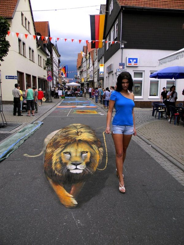 Amazing 3-D Sidewalk Chalk Art