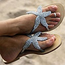 Starfish Beaded Sandal. Perfect beach shoes!!!