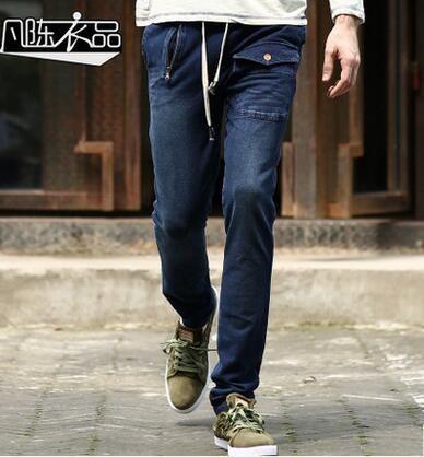 Spring autumn cheap jeans homme biker skinny jeans men high quality male denim pants masculino motorcycle fashion designer blue