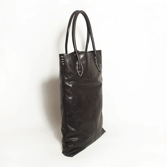 Genuine Leather Shoulder Bag Leather Tote Handmade by MillionKnit, $129.00