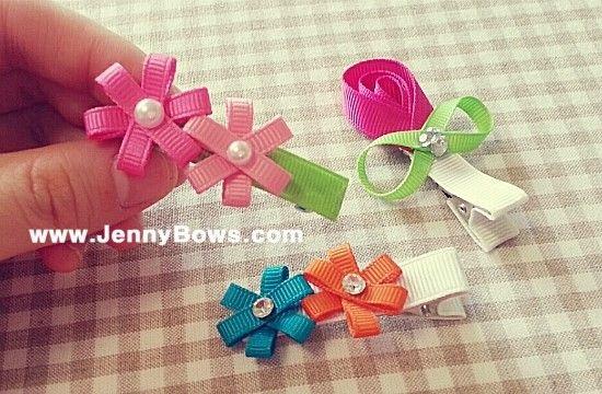 분당리본공예JennyBows www.JennyBows.com / 스토리 채널 Bows80 미니 헤어핀