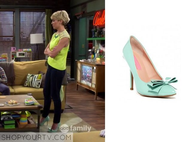 Baby Daddy: Season 4 Episode 4 Riley's Mint Bow Heels