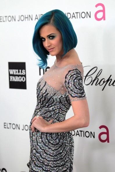 pretttyPerry Hair, Hair Colors, John Aid, Oscars 2012, Oscars Parties, 2012 Oscars, Katy Perry, Elton John, Blue Hairstyles