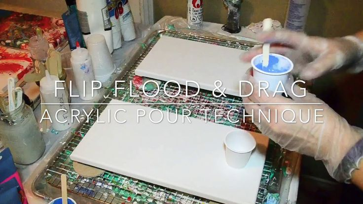 Acrylic Pouring: Flip Flood and Drag - YouTube