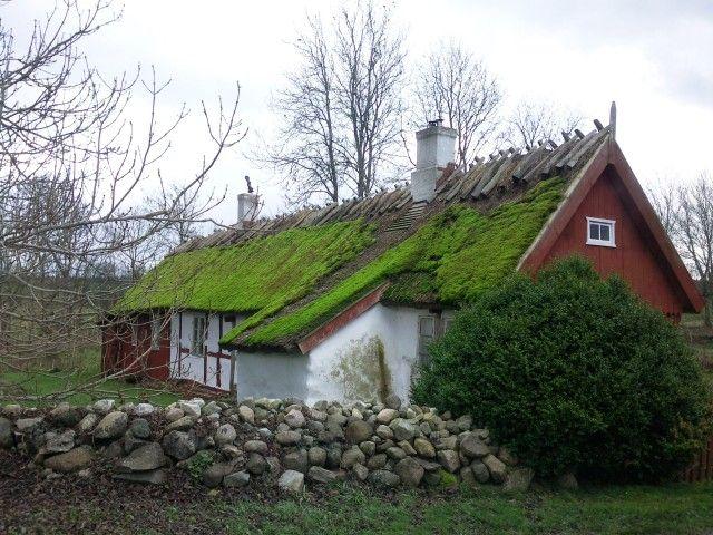 Farmhouse in Skåne, Sweden. (Skånelänga)