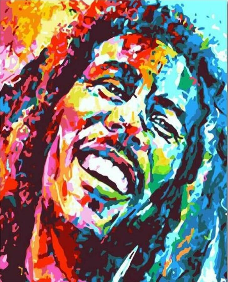 Bob Marley Van Go Paint By Number Kit Ebay Paint By Number Kits Painting Diy Painting