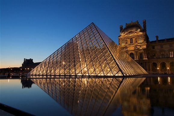 The Louvre Palace and Pyramid, Paris