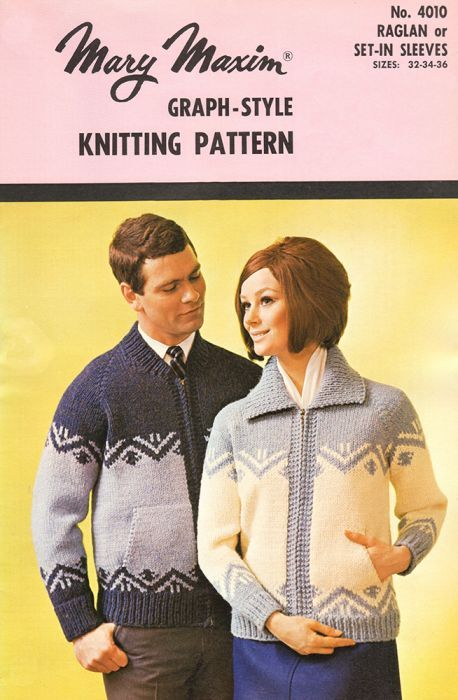 61bd2a3f4 Mary Maxim - Men s or Ladies  Cardigan Pattern - Patterns   Books ...