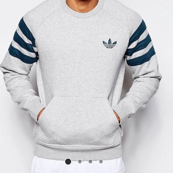 New Adidas Sweatshirt Brand new with tags (though not attached), Adidas sweatshirt, super comfortable  (no trades, feel free to make an offer, I will lower prices if you purchase more than just one item just let me know ahead of time so I can put them in the same listing) Adidas Sweaters Crew & Scoop Necks
