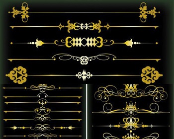 Golden-Vintage-Borders-Vector.jpg (350×280)