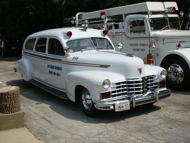 Vintage cadillac ambulances rescue