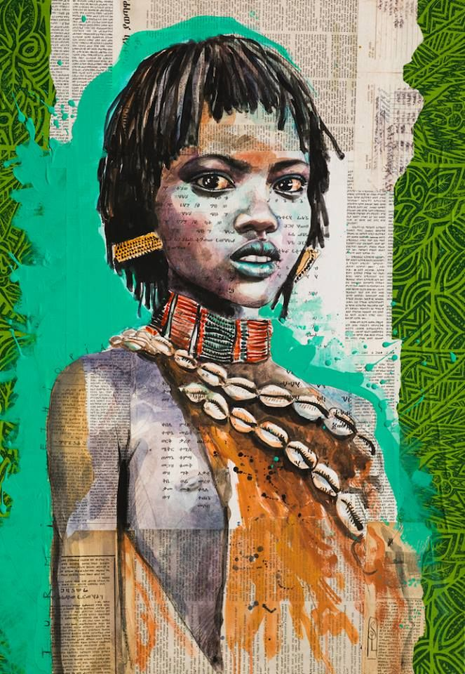 Little blue Hamer girl in Turmi - Omo Valley - Ethiopia