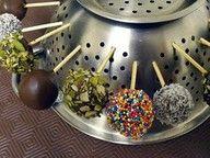 Colander for Drying Cake Pops #diy