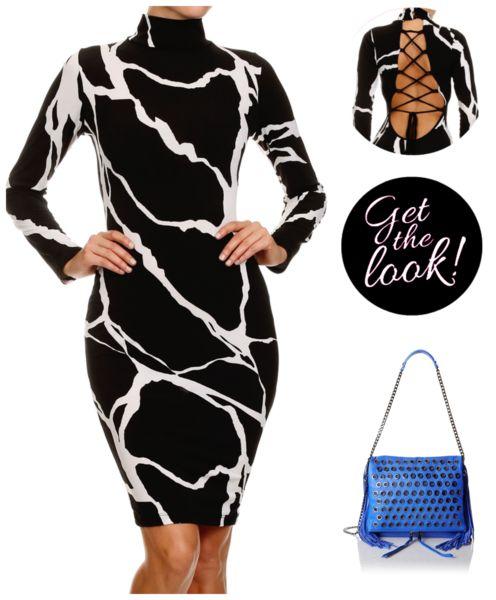 Sexy Lace Up Back BodyCon Midi Dress