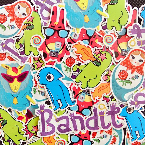 We draw and make high quality vinyl stickers, fun and strong)