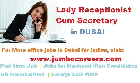 RECEPTIONIST CASHIER jobs in Dubai Pinterest Receptionist - telemarketing job description