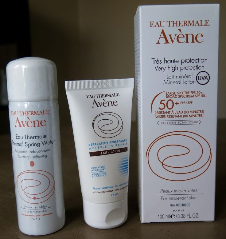Refreshed and Fit   Avene mineral sunscreen
