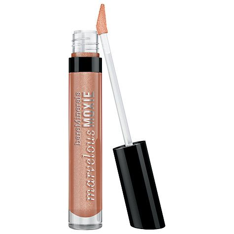 Buy bareMinerals Marvellous Moxie Lip Gloss Online at johnlewis.com   £16   wear solo or update spring's fuschia lip with a holographic topcoat -mix the colour and gloss on the back of your hand to get the right colour balance and consistency.