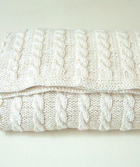 Ravelry: Classic Cable Baby Blanket pattern by Linda Whaley