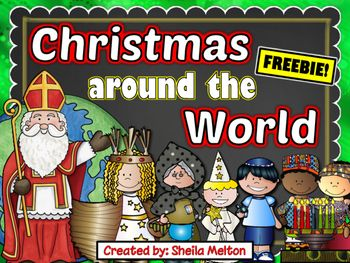 FREE! Travel around the world with your students and learn how children celebrate Christmas, Hanukkah and Kwanzaa in different countries with these Christmas Around the World NO PREP printables!