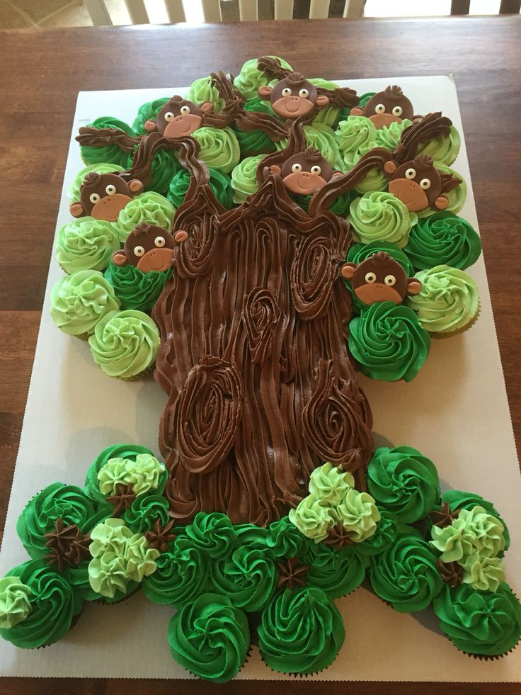 Monkey Cupcake tree! Perfect for a baby shower or a birthday party!