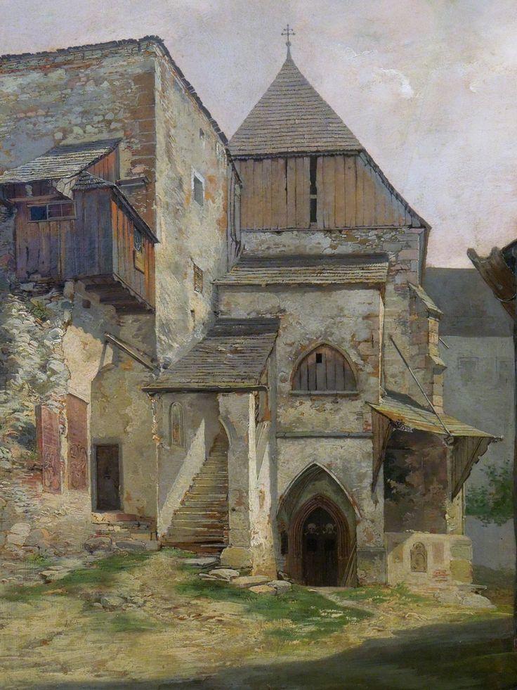 "Josef Mánes, ""Chapel in Gmunden"""