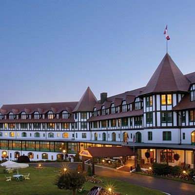 "The Fairmont Algonquin, St. Andrews-by-the-Sea, New Brunswick. Set on sparkling Passamaquoddy Bay, the 122-year-old Tudor-style ""castle-by-the-sea"" has modern touches that allow you to enjoy its historical charm in comfort. At check-in, you'll see a 1900s photo of the hotel, showing a headless bride in the window; she is said to have died of a broken heart after being jilted at the altar. If you dare, stay in room 473, where guests claim to have witnessed the floating, wedding gown–clad…"