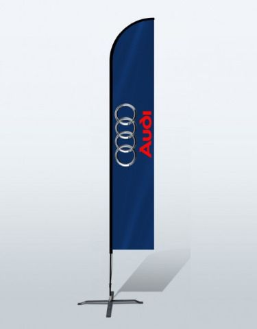 https://flic.kr/p/VQDQ8x | Custom Flag | Advertising Flag | Toronto | Canada | Custom straight Flags Banners are an ideal way to promote the brand or message to the potential customers in an affordable price.